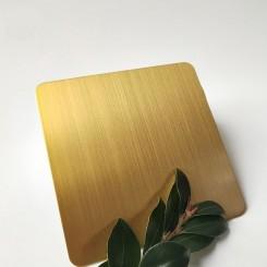 ورق استیل خش دار طلایی 0.6